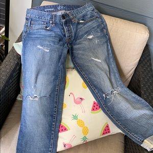 Loft Boyfriend Distressed Jeans